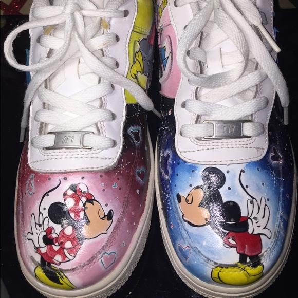 Nike Shoes Custom Painted Disney Air Force 1 Poshmark